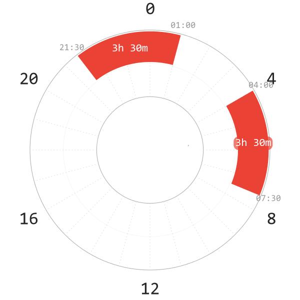 Segmented Sleep Schedule